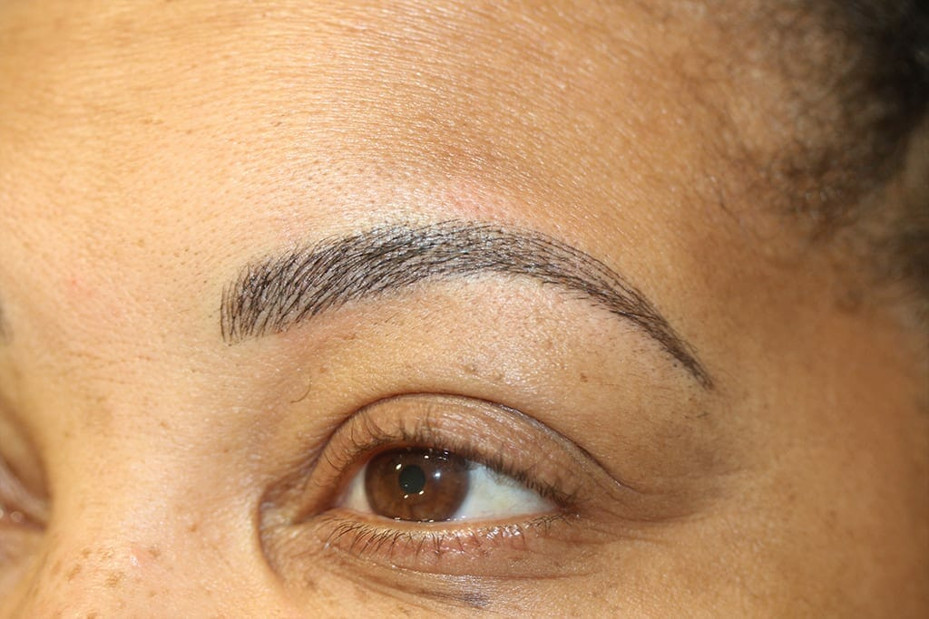 After Treatment Permanent Eyebrows