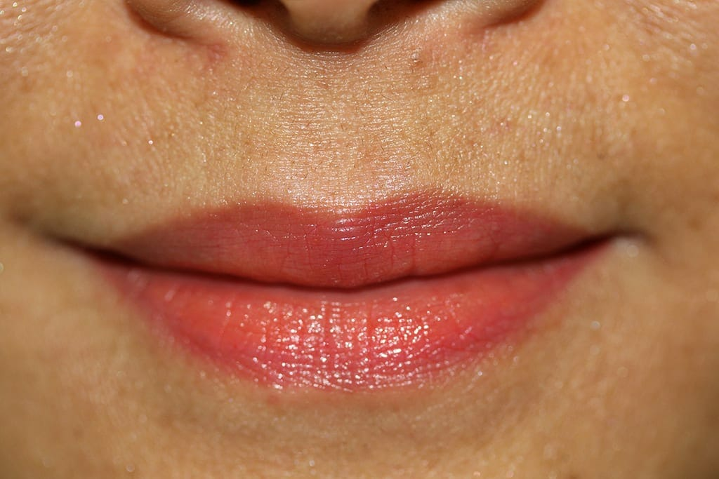 Lip Liner Color Before and After Photo